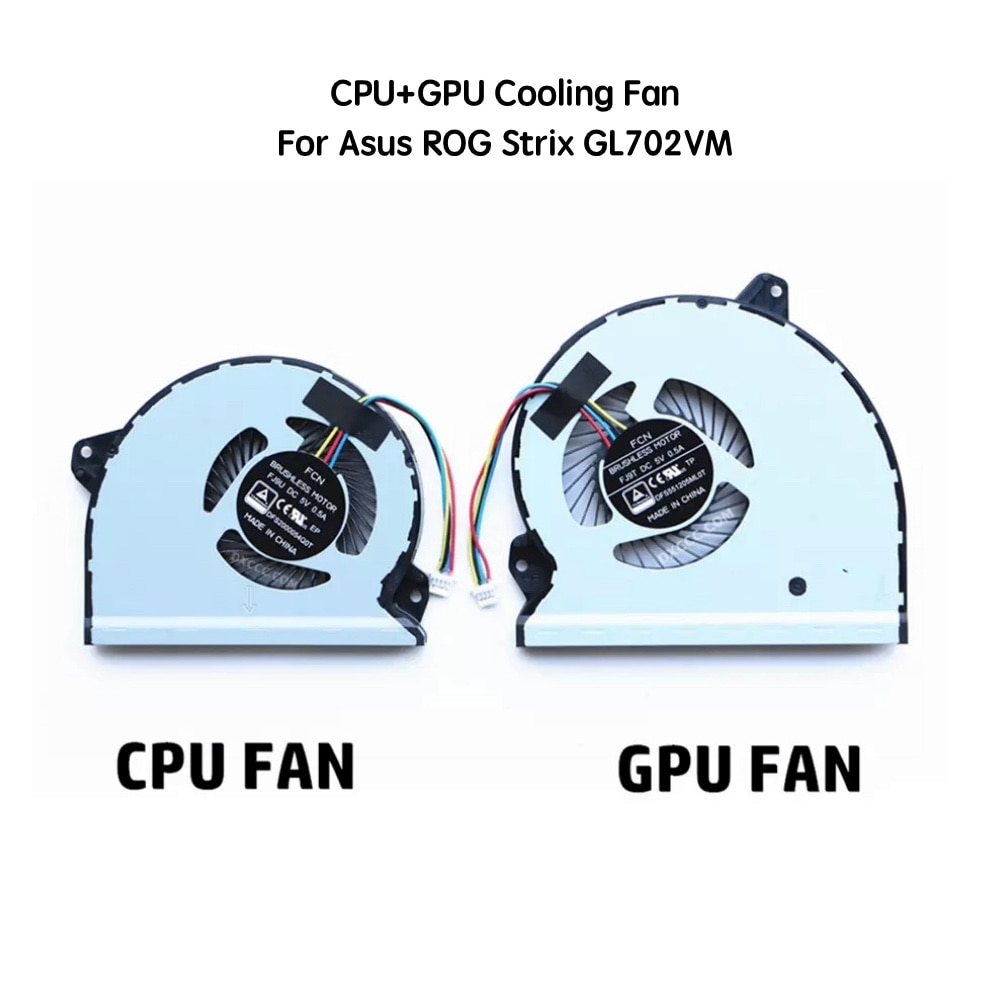 Кулер для ноутбука ASUS ROG Strix GL702VM GL702V FCN FJ9U FJ9T, Охлаждающие вентиляторы для процессора, вентиляторы для процессора, 5 В