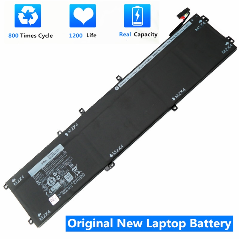 CSMHY New 4GVGH Laptop Battery for DELL Precision 5510 XPS 15 9550 series 1P6KD T453X 11.4V 84WH