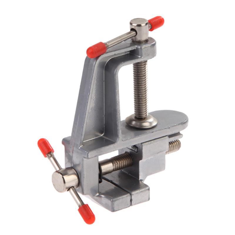 "3,5 ""Aluminium Miniatur Clamp Kleine Jewelers Hobby Clamp Auf Tisch Schraubstock Mini Werkzeug Umge Muliti-Funcational Beruf werkzeug"