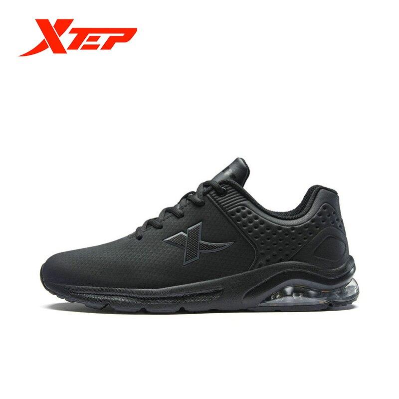 Xtep homem metade do ar tênis de corrida leve absorção de malha esportes tênis de corrida masculino casual sapato lazer 881119119266