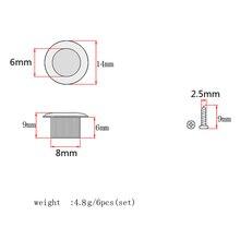 6x Chrome 8mm Metal Vintage Guitar Tuner Conversion Bushings Adapter Ferrule