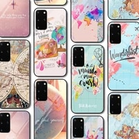 map glass case for samsung galaxy a51 s20 a50 a71 a70 s10 s9 s8 a31 a41 a21 a11 m31 s10e a30 a20 note 20 10 9 lite plus ultra