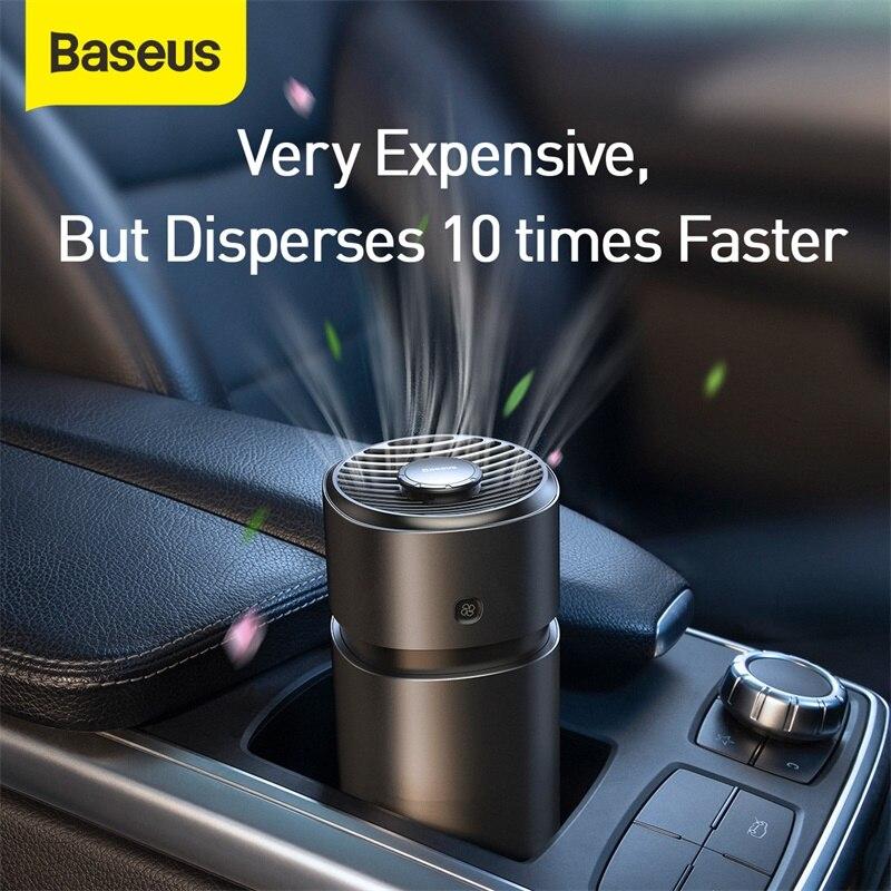 Baseus 2 en 1 coche ambientador de aire con ventilador inalámbrico ambientador de aire con Perfume para coche de Metal Auto difusor de la fragancia