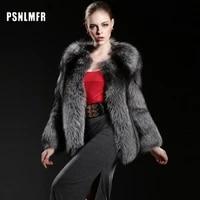 discounts sale whole skin warm frosty real silver fox fur coat beautiful ladies party outerwear streetwear womens winter coat