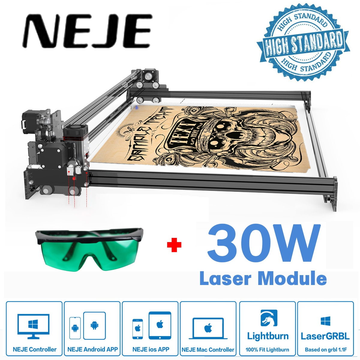 Лазерный принтер для резки дерева, лазерный гравер, управление через приложение