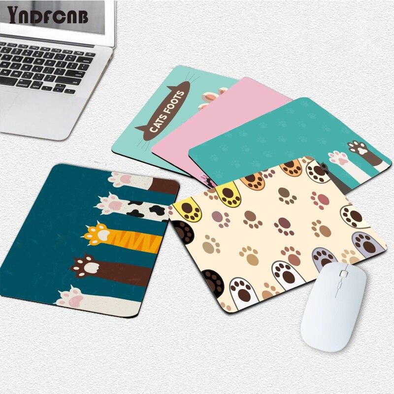YNDFCNB забавные Забавные милые кошачьи лапы для ноутбука, игровые мыши, коврик для мыши, гладкий коврик для письма, настольные компьютеры, ковр...