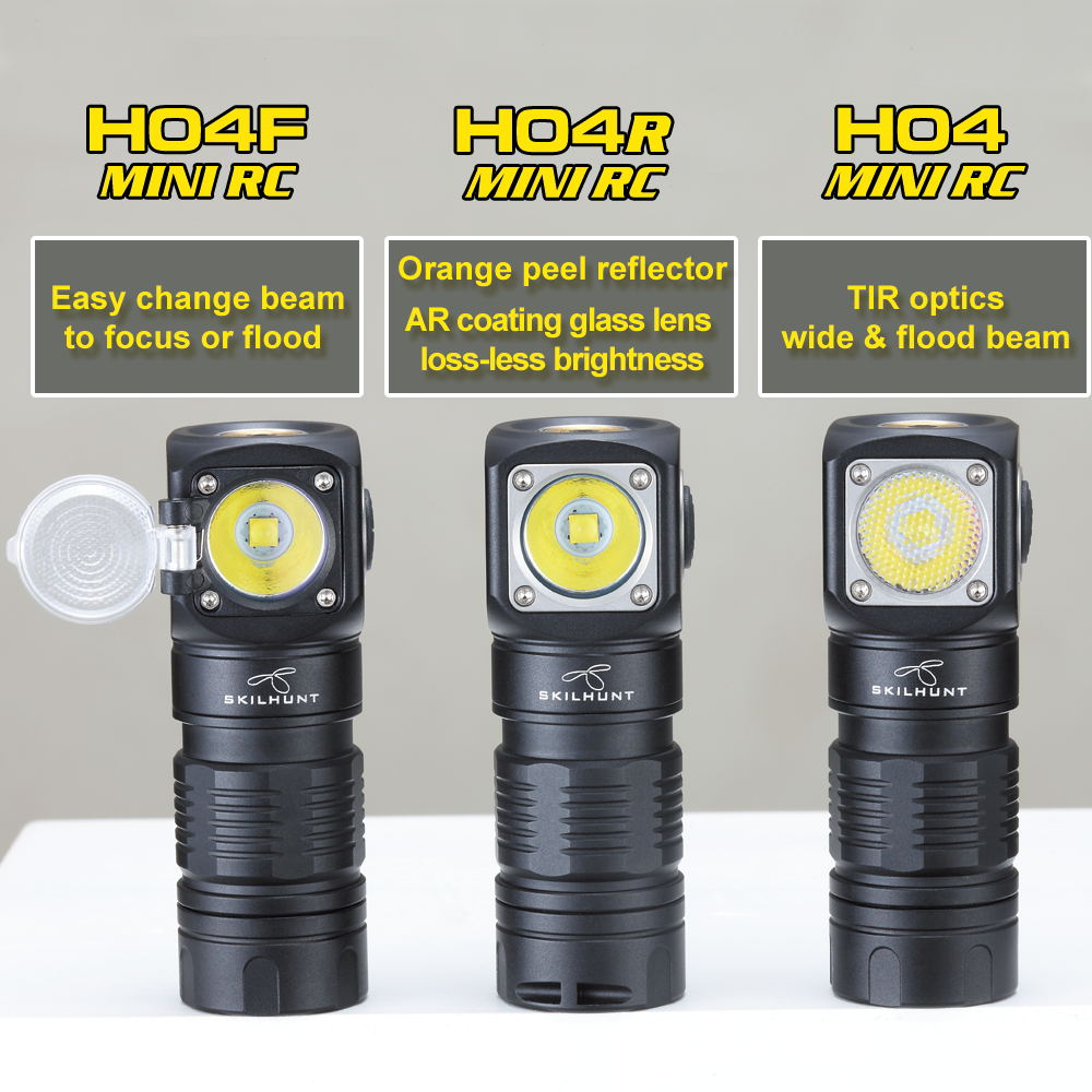 Skilhunt-مصباح أمامي مغناطيسي صغير LED H04 H04R H04F RC ، 1000 لومن ، قابل لإعادة الشحن عبر USB ، اثنان من مصابيح UI مخصصة مع بطارية