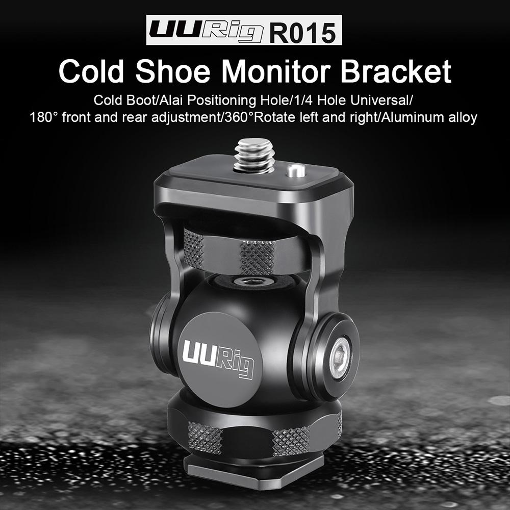 UURig R015 кронштейн для монитора мини-шаровая Головка с креплением на холодную башмаку для Sony Canon Nikon DSLR камеры смартфона r60