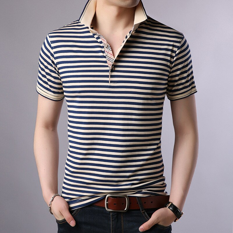 B1272-Summer new men's T-shirts solid color slim trend casual short-sleeved fashion