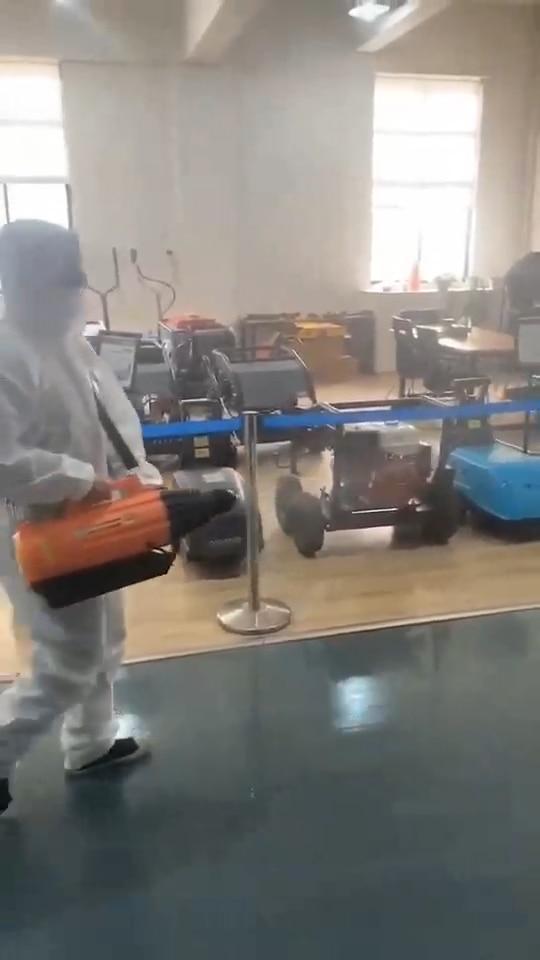 Portable 3L cordless sanitizer fogging machine sterilizing sprayer rechargeable battery powered ULV cold fogger