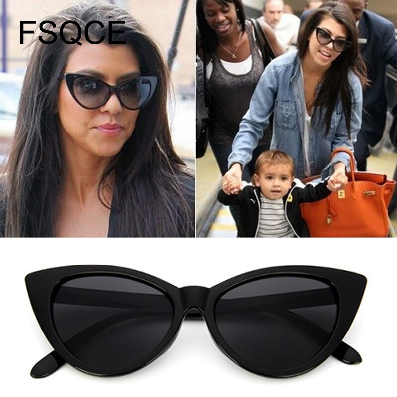 2021 Retro Cat Eye Sun Glasses New Women Cateye Sunglasses Luxury Brand Designer Vintage Gradient Fe