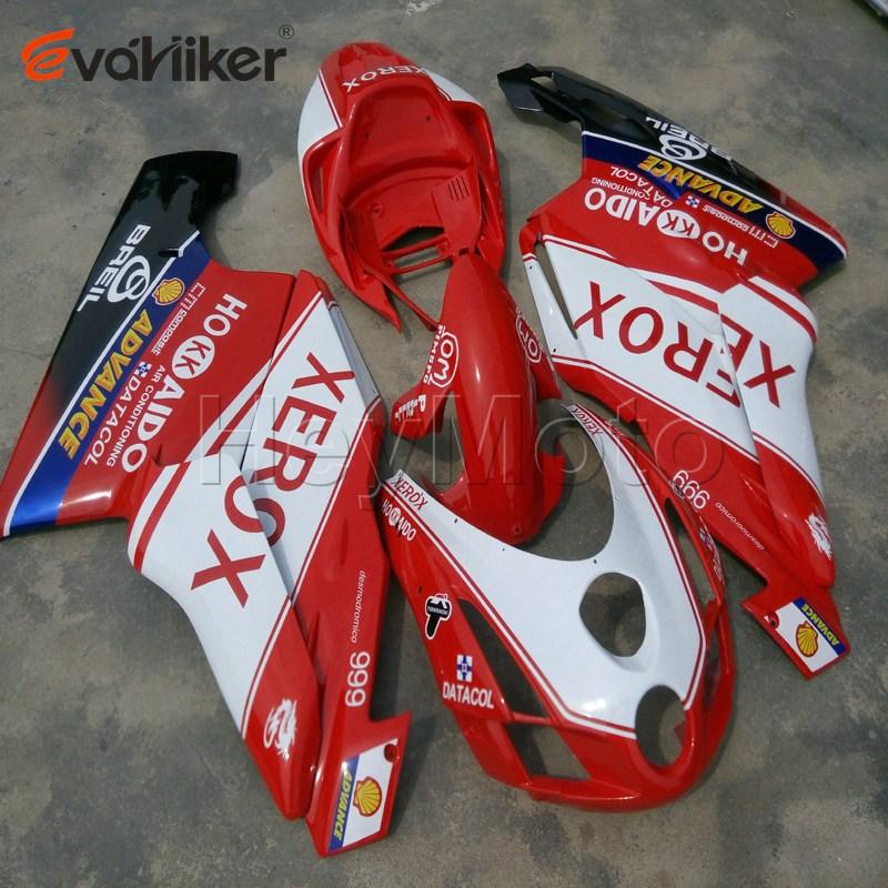 Cubierta de motocicleta personalizada para 749 999 2003-2004 carenado de plástico ABS de motocicleta + 5 regalos + rojo blanco negro H2