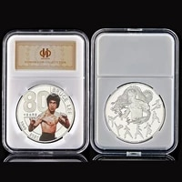 chinese dragon kungfu bruce lee the 80th anniversary silver plated commemorative coin w capsule display