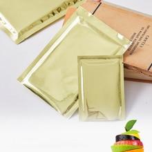 100pcs/lot Empty Tea Bags Aluminum Foil Tea Packaging Bags Gift Fruit Food Coffee Teabags