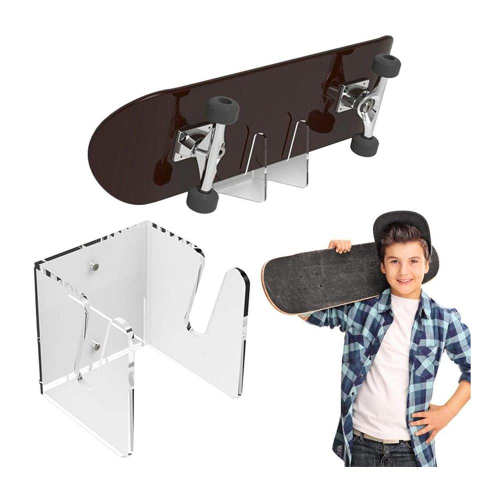 Настенная вешалка для скейтборда, настенное крепление, скользящая пластина, стенд для дисплея, кронштейн для Лонгборда, настенное креплени...