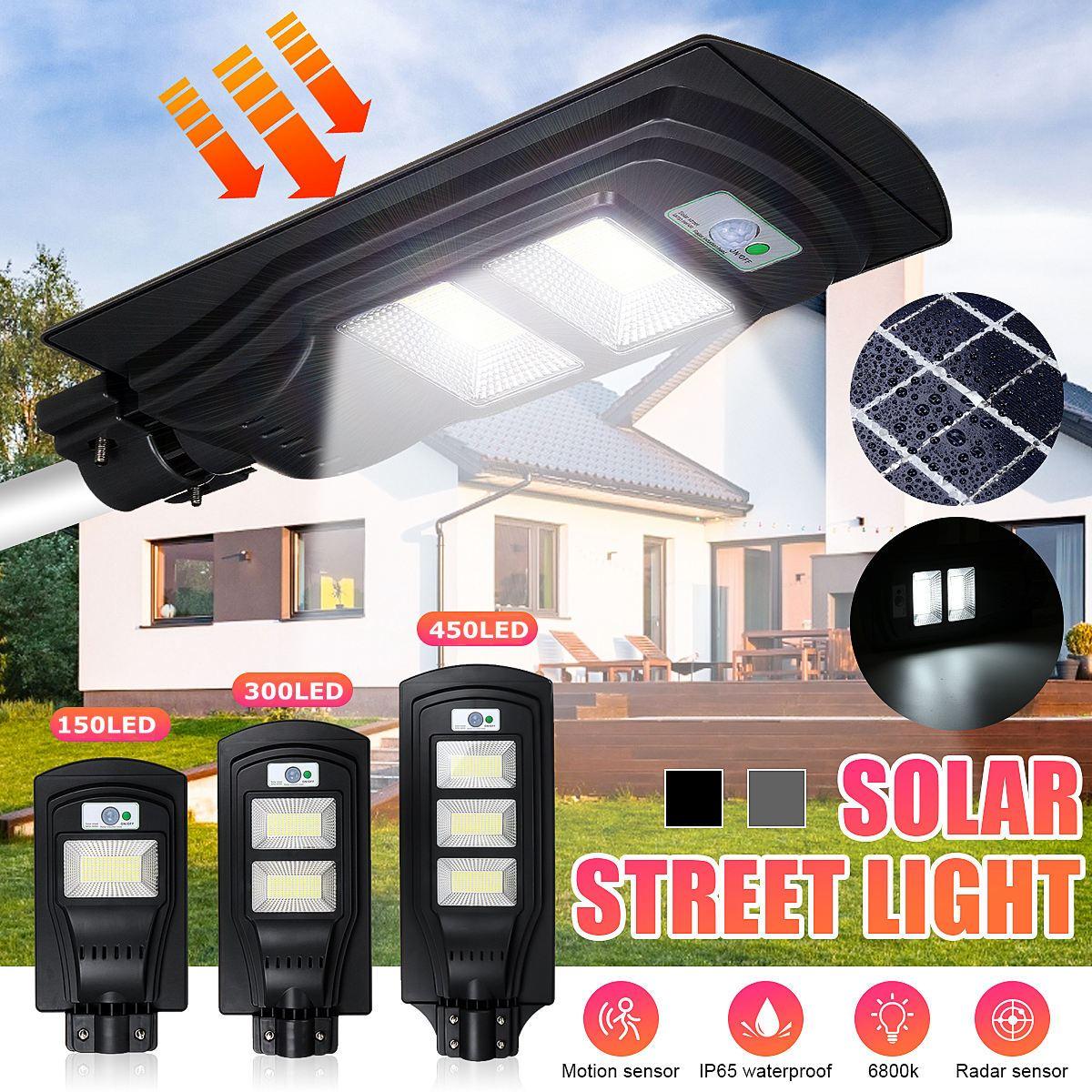 320W 640W 950W LED الشمسية ضوء الشارع في الهواء الطلق الإضاءة حديقة ساحة جدار الطريق موقف للسيارات الأمن مصباح IP67 للماء