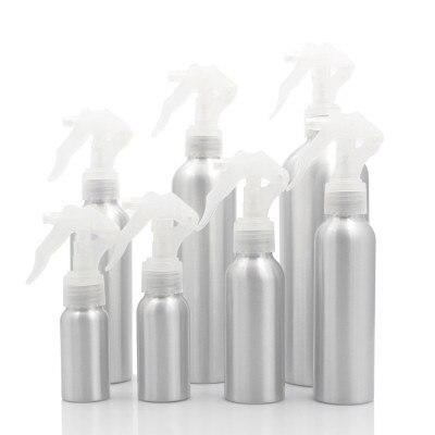 1pc 30/50/100/150/250ml garrafa vazia de alumínio recarregável dispensador de garrafa de névoa salão de beleza barbeiro mouse spray garrafas ferramentas de cuidados com o cabelo