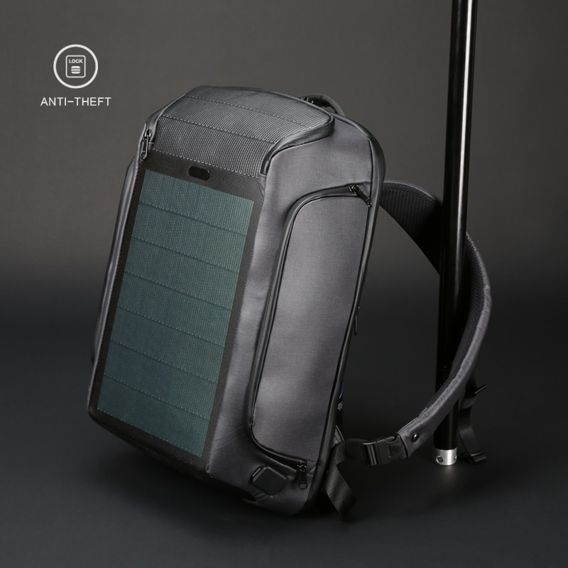Kingsons new multifunctional solar charging anti-theft backpack men's 15-inch USB charging travel ba
