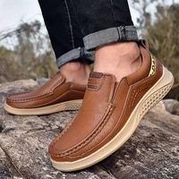 genuine leather wear resisting men casual shoes flats plus size loafers moccasins breathable slip on comfort driving shoes men