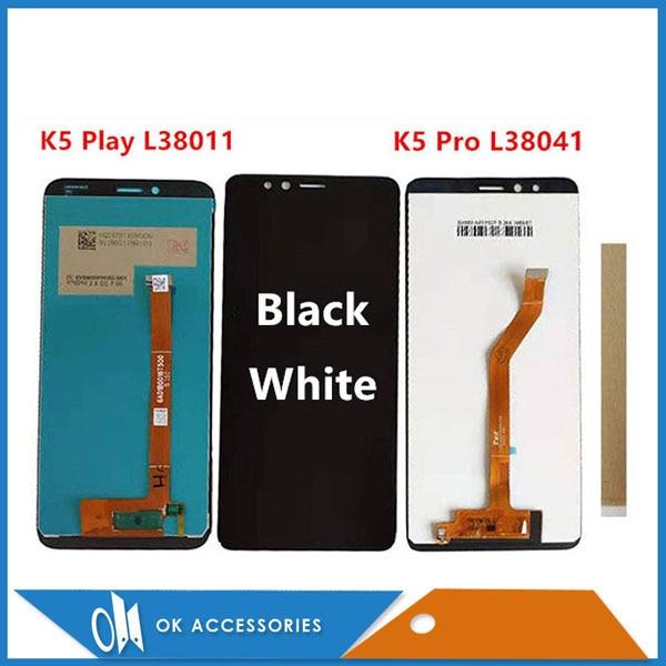 Оригинальный Для Lenovo K5 Play L38011 / K5 Pro L38041 ЖК-дисплей с сенсорным экраном, стеклянный сенсор, дигитайзер в сборе с инструментами, лента