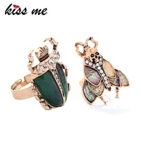 kissme rings 2021 new natural stone insect vintage finger rings for women fashion jewelry wholesale