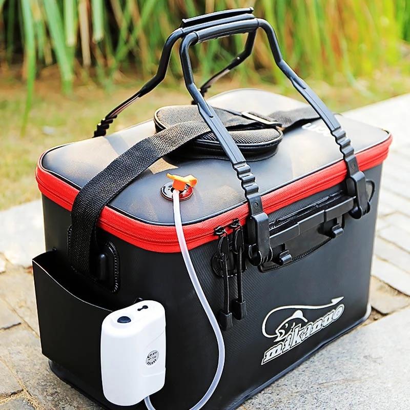 DKSAHEMTB EVA Portable Fishing Bag Folding Thicken Live Fishing Box Tank Bucket Camping Fishing Tackle Fishbox Storage Bag MJ