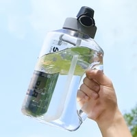 fashion 70oz sports water bottle summer outdoor portable scale straw cup new arrival 2 7l large capacity drinking utensil