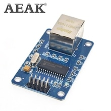 AEAK ENC28J60 LAN de red Ethernet Junta módulo 25MHZ cristal AVR 51 LPC STM32 3,3 V