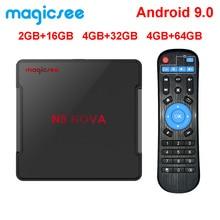 Magicsee N5 NOVA 4GB 64GB RK3318 Quad-Core Android 9.0 Tv Box 2.4G 5G Wifi BT4.0 décodeur intelligent 4K H.264 N5 MAX lecteur multimédia
