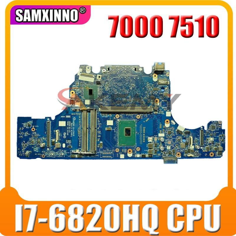 PARA DELL 7000 Series 7510 Notebook Motherboard 086PC0 86PC0 CN-086PC0 LA-C541P I7-6820HQ 100% de trabalho