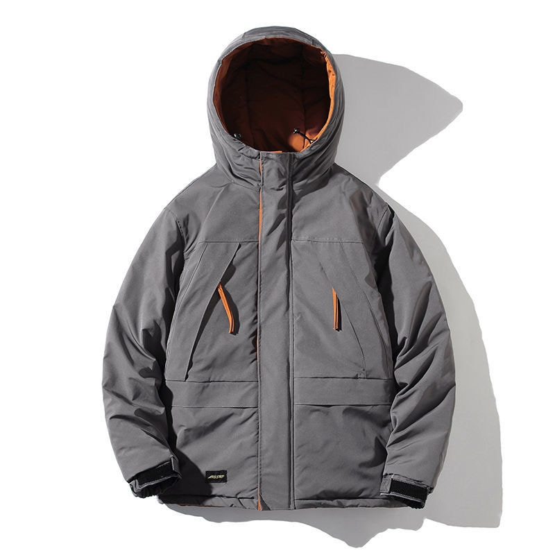 Мужские парки, зимняя куртка, утепленное теплое пальто, мужские куртки с капюшоном, однотонная парка, пальто, Мужская модная уличная одежда, ...