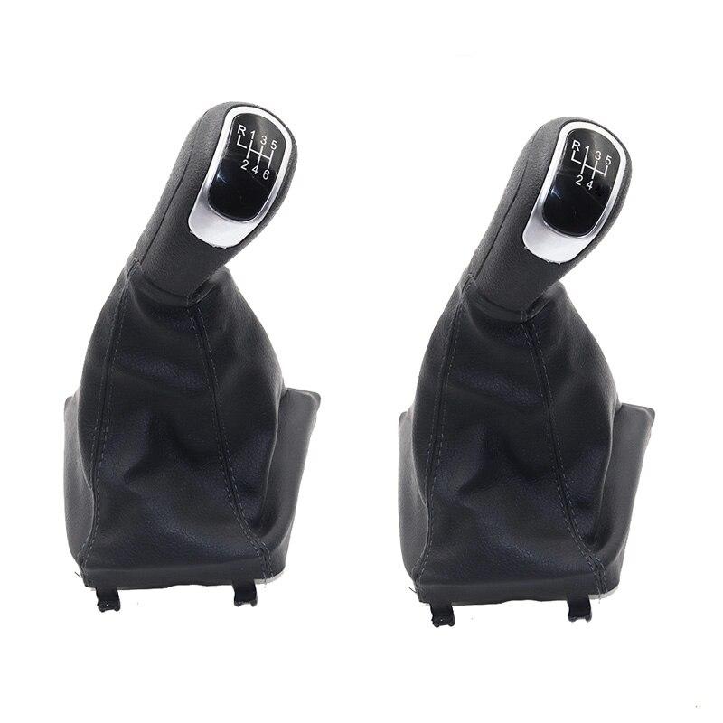 Perilla de palanca de cambios de coche Manual de velocidad 5/6, funda de bota para Skoda Superb II (08-12) / Yeti (09-12)