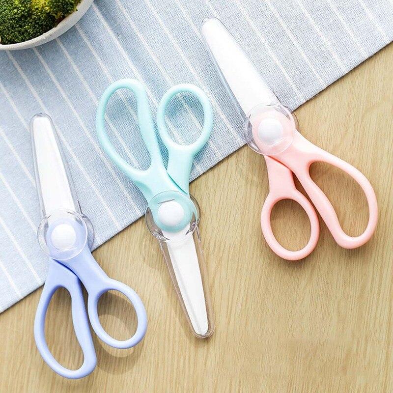 Gelegentliche Farbe Keramik Schere Küche Büro Schere Marke Baby Nahrungsergänzungsmittel Lebensmittel Ergänzung Für Kinder Schere Messer