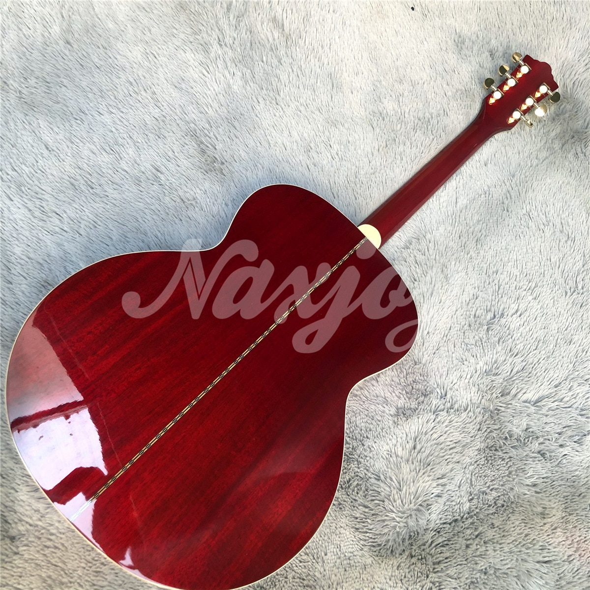 Professional 43 Inches Jumbo F50 Vintage Guitars Gloss Red Guild Acoustic Electric Guitar Free Shipping enlarge