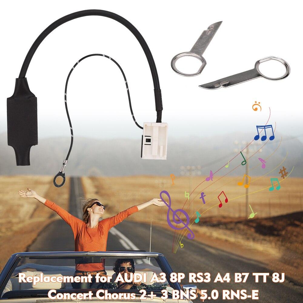 Carro aux música bt adaptador de substituição para audi a3 8 p rs3 a4 b7 tt 8j concerto coro 2 + 3 bns 5.0 RNS E Cabos, adaptadores e soquetes    -