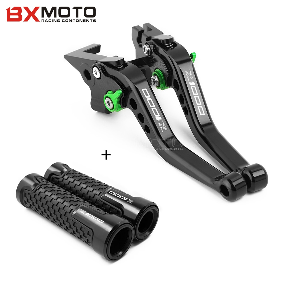 adjustable cnc billet long straight brake clutch levers for bmw f 650 700 800 r s gs gt 2008 2015 2009 2010 2011 2012 2013 2014 LOGO Z1000 Handlebar grips +Short Clutch Brake Levers For KAWASAKI z1000 Z1000 2007 2008 2009 2010 2011 2012 2013 2014 2015 2016