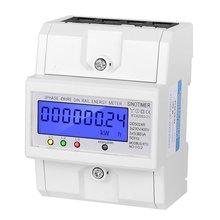 SINOTIMER DDS024R RS485 Modbus Rtu DIN Rail 3 phases 4P wattmètre électronique consommation dénergie compteur dénergie avec rétro-éclairage LCD