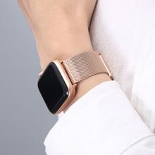 Correa Milanesa para Apple Watch Series 6, 7, SE, 44mm, 40mm, iWatch 5, 4, pulsera de acero inoxidable para Apple Watch 3, 42mm, 38mm