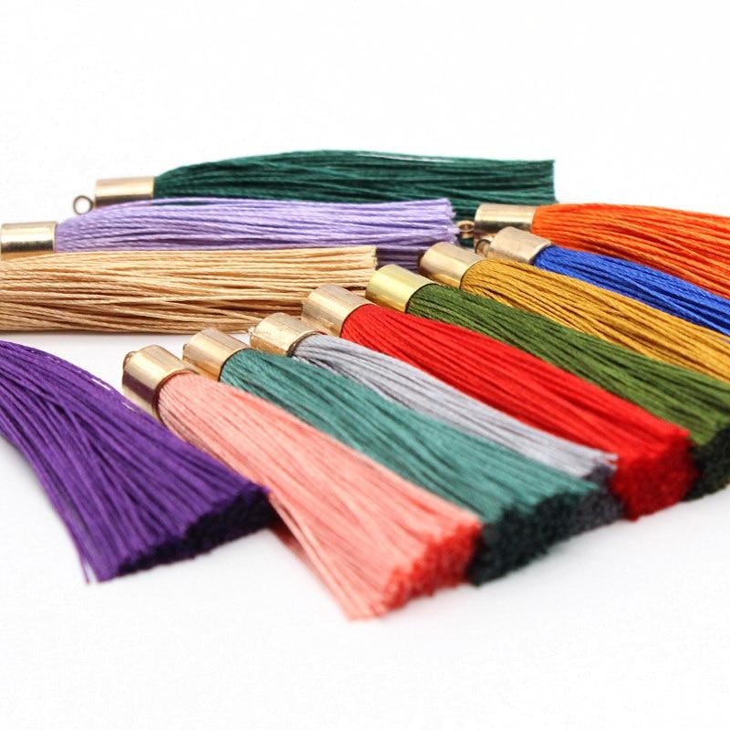 10Pcs 55mm Metal Silk thread Vintage Leather Tassels / jewelry accessories earrings craft Decorative