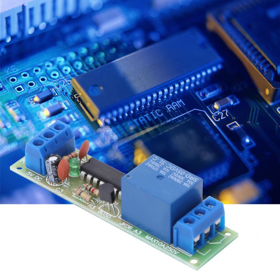Módulo de relé 5VDC 3 uds CD4013 Chip 1 canal NO NC doble poste con aislamiento optoacoplador