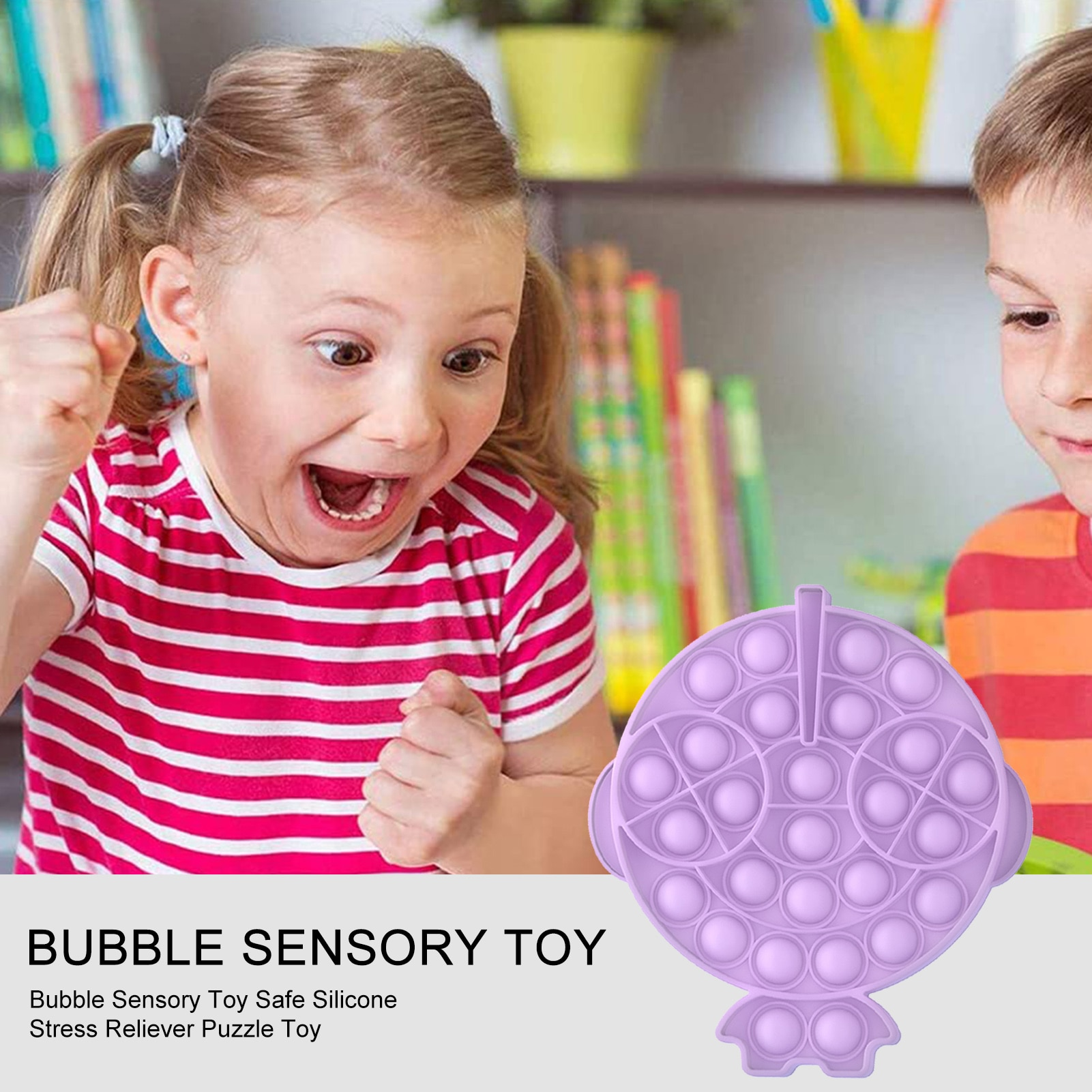 Funny Bubble Sensory Toy Safe Silicone Stress Reliever Fidget Antistress Toys For Adult Children Push Bubble Fidget Sensory Toy enlarge