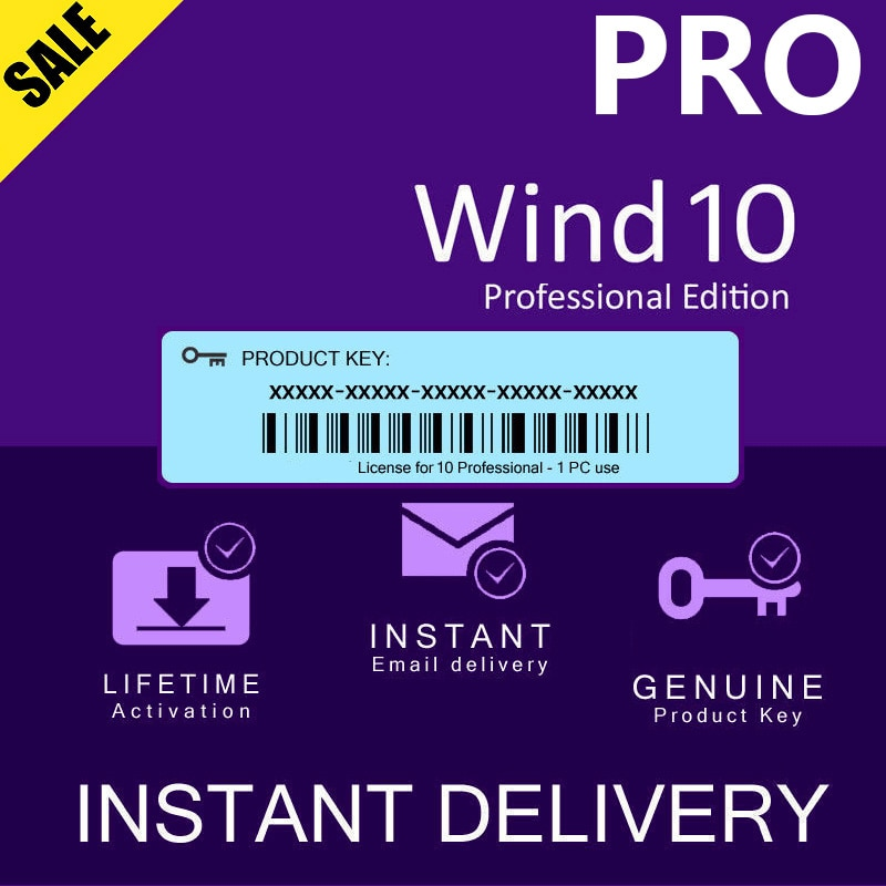 WIND 10 PRO PROFESSIONAL GENUINE LICENSE KEY - Instant Delivery 3 minute - lifetime Global online activate ms office pro plus 2019 genuine license 2 pc install