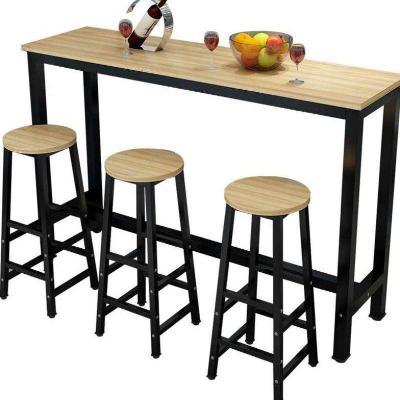 Wall Bar Table Milk Tea Shop High Foot  Chair Household Simple Modern Small  Long    Business