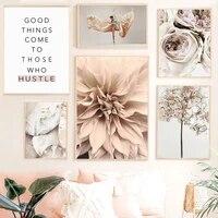 Fleur citation Art photo mur Art toile peinture minimaliste moderne mode nordique affiches et impressions pour dortoir decor a la maison