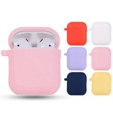 Oryginalne etui na słuchawki do Apple Airpods 1 2 etui na słuchawki Bluetooth ochronna osłona silikonowa do obudowy Air Pods