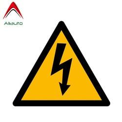 Aliauto aviso de aviso perigoso capa risco pvc carro adesivo janela decalque suncreen à prova dwaterproof água, 14cm * 12cm