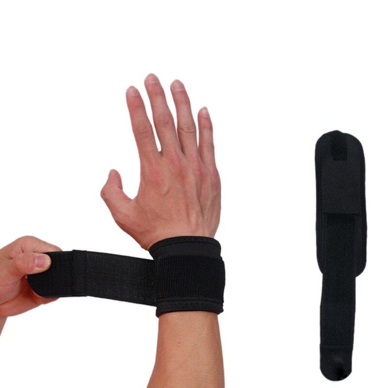1 Pza muñequeras para baloncesto deporte útil espray banda para artritis cinturón túnel carpiano mano muñequera soporte azul sólido