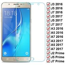 Vetro protettivo 9D per Samsung Galaxy S7 A3 A5 A7 J3 J5 J7 2016 2017 J2 J4 J7 Core J5 Prime vetro temperato per protezione dello schermo