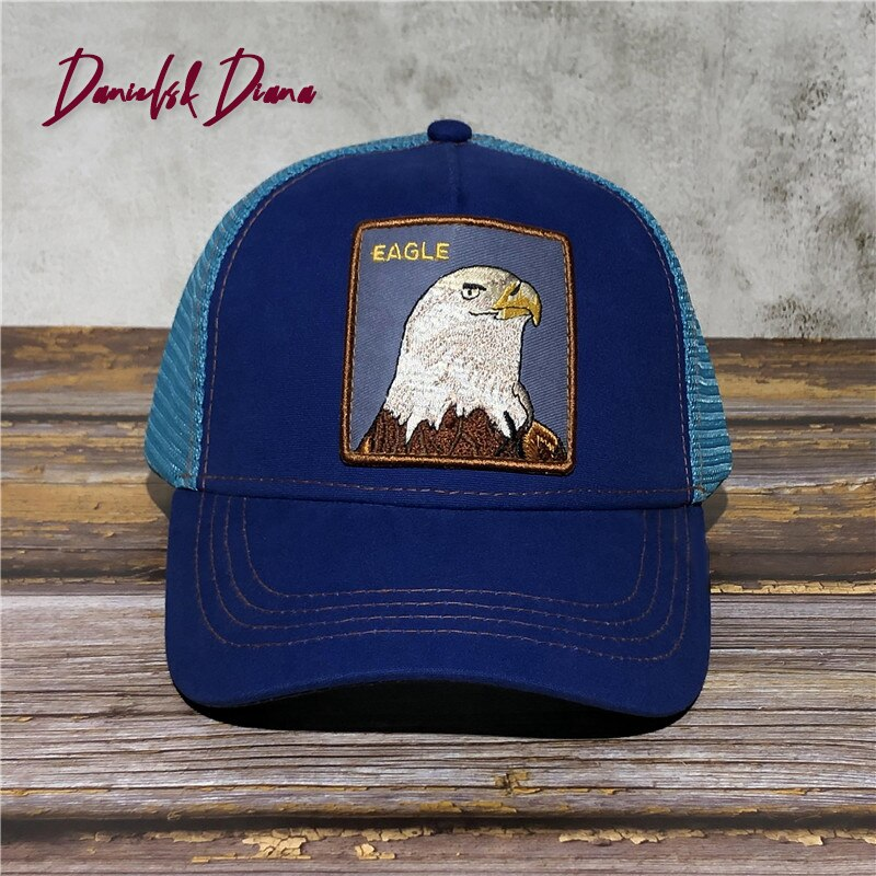 NEW Eagle Exquisite Embroidered Baseball Cap High Quality Nylon Cotton Trucker Snapback Hat Adjustable Animal farm cap