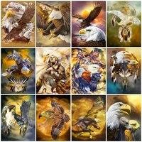 5d diy full drill diamond embroidery eagle hawk animal mosaic art diamond painting kit cross stitch home decoration handicrafts